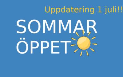 Sommaröppet 2021 (uppdatering)
